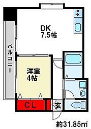 E.POPULARII 5階1DKの間取り