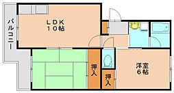 福岡県福岡市博多区吉塚4丁目の賃貸マンションの間取り