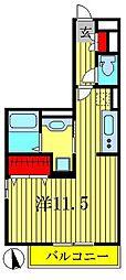 メルヴェーユ花水木II[3階]の間取り