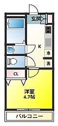 プログレス・カバロ[1階]の間取り