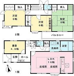 [一戸建] 東京都府中市緑町3丁目 の賃貸【/】の間取り
