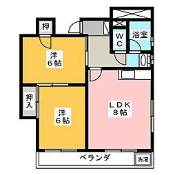 第2大洋ビル[6階]の間取り