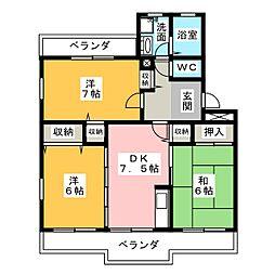 サングレイスIII[2階]の間取り