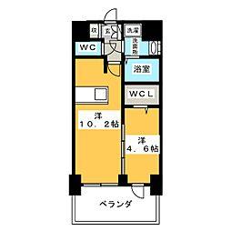 プレサンス錦通 THE 葵 6階1LDKの間取り