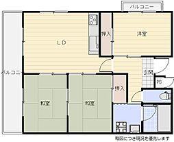 阪急千里線 南千里駅 バス6分 徒歩1分の賃貸マンション 7階3LDKの間取り