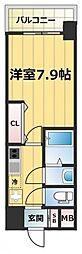 JR大阪環状線 森ノ宮駅 徒歩7分の賃貸マンション 10階1Kの間取り