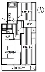 一杉マンション[2階]の間取り