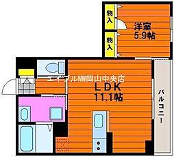 アドラシオン津島[2階]の間取り