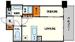 BPRレジデンス新梅田 14階1LDKの間取り
