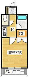 福岡県太宰府市朱雀2丁目の賃貸マンションの間取り