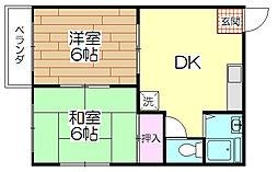 寿コーポ[205号室]の間取り