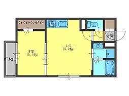 ラ・フォンテ久米田[2階]の間取り