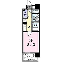 京阪本線 滝井駅 徒歩2分の賃貸マンション 6階1Kの間取り