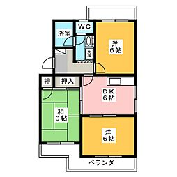 マンションオアシス[1階]の間取り