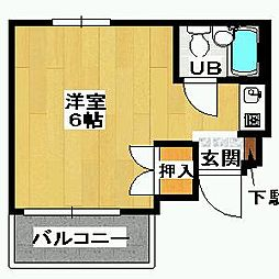 細川アパートメント[403号室]の間取り