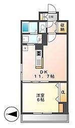 ノーブル徳川[4階]の間取り