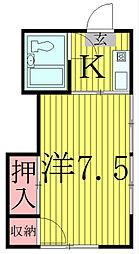 サンハイツ柏[2階]の間取り