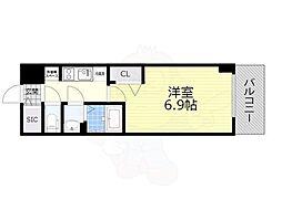 名古屋市営名城線 東別院駅 徒歩4分の賃貸マンション 10階1Kの間取り