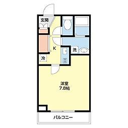 THE CLASS OMORI RESIDENCE 3階1Kの間取り