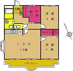 東京都町田市成瀬1丁目の賃貸マンションの間取り