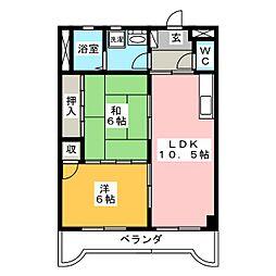 アーバンコートI[4階]の間取り