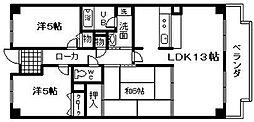 アネックス岸和田[603号室]の間取り