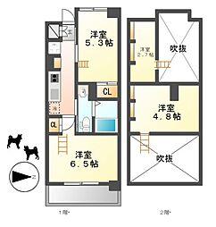 エステムコート名古屋駅前CORE[4階]の間取り