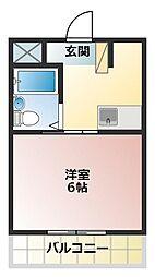 播磨第二ビル[2階]の間取り