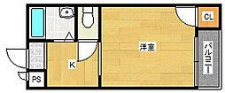 メイフェア岸里[4階]の間取り
