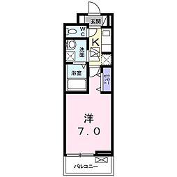 ディアコート 宮脇(アパート) 1階1Kの間取り