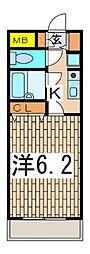 アーバンスプラザNo.7[208号室]の間取り