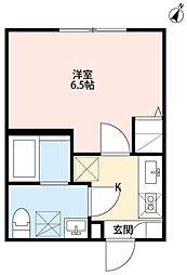 仙台市営南北線 長町駅 徒歩1分の賃貸アパート 2階1Kの間取り