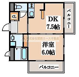 ベルメゾン[3階]の間取り