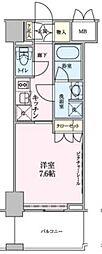 都営大江戸線 六本木駅 徒歩8分の賃貸マンション 2階1Kの間取り