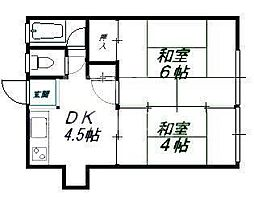 岡村マンション[21号室号室]の間取り