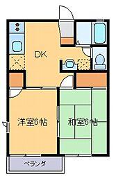 エクレール板垣[A202号室]の間取り