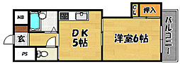 大阪府大阪市東淀川区小松4丁目の賃貸マンションの間取り