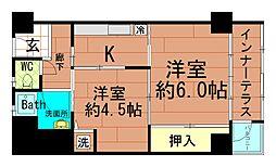 北堀江団地[5階]の間取り