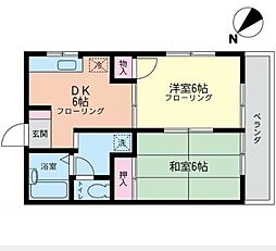 サンハイム富士見(サンハイムフジミ)[3階]の間取り