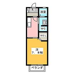 グローリーフォレスト A棟[2階]の間取り