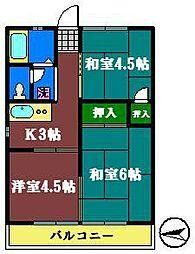 トップ4[203号室]の間取り