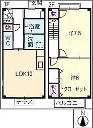 [タウンハウス] 三重県鈴鹿市平野町 の賃貸【/】の間取り