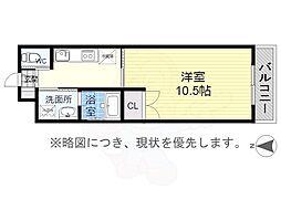 MTマンション 3階1Kの間取り