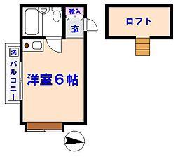 カーサTIKI国府台[201号室]の間取り