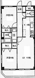 神奈川県横浜市泉区中田東1丁目の賃貸マンションの間取り