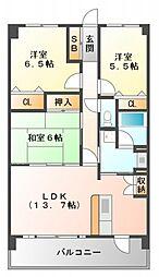スカール江坂[302号室号室]の間取り