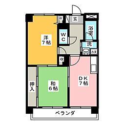 レジデンス千代田[3階]の間取り