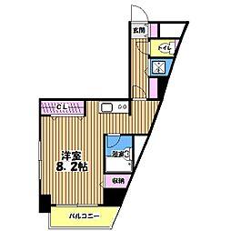 ブラッサム石神井[6階]の間取り