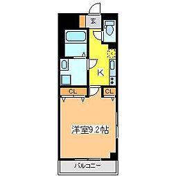 広島県東広島市西条中央4丁目の賃貸マンションの間取り