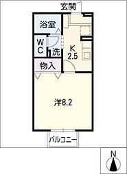 エスポワール長筬[2階]の間取り